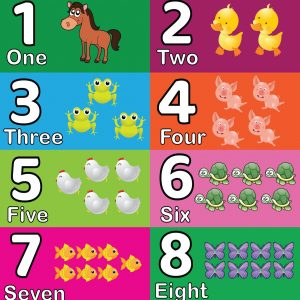 Numbers 1-10 With Animals Poster